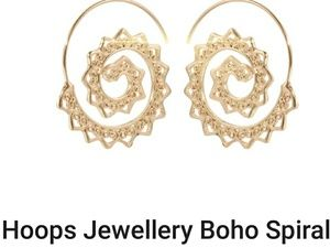 Jewelry - 5 for $25!  Golden spiral hoops